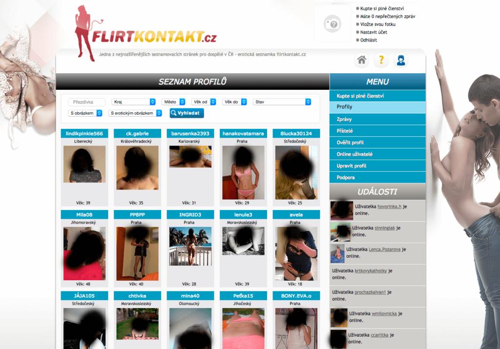profily uživatelů flirtkontakt